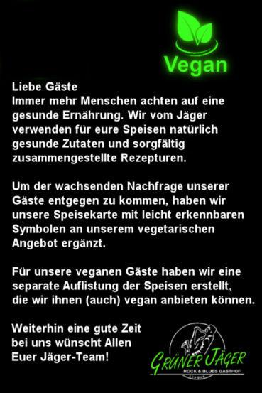 Grüner Jäger VeganEssen