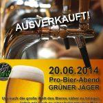 Grüner Jäger Pro-Bier-Abend 2014