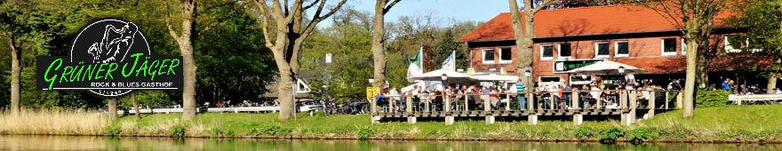 Grüner Jäger Banner Kanal Frühling