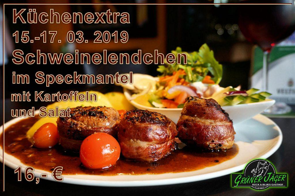Küchenextra Grüner Jäger Schwein im Speck