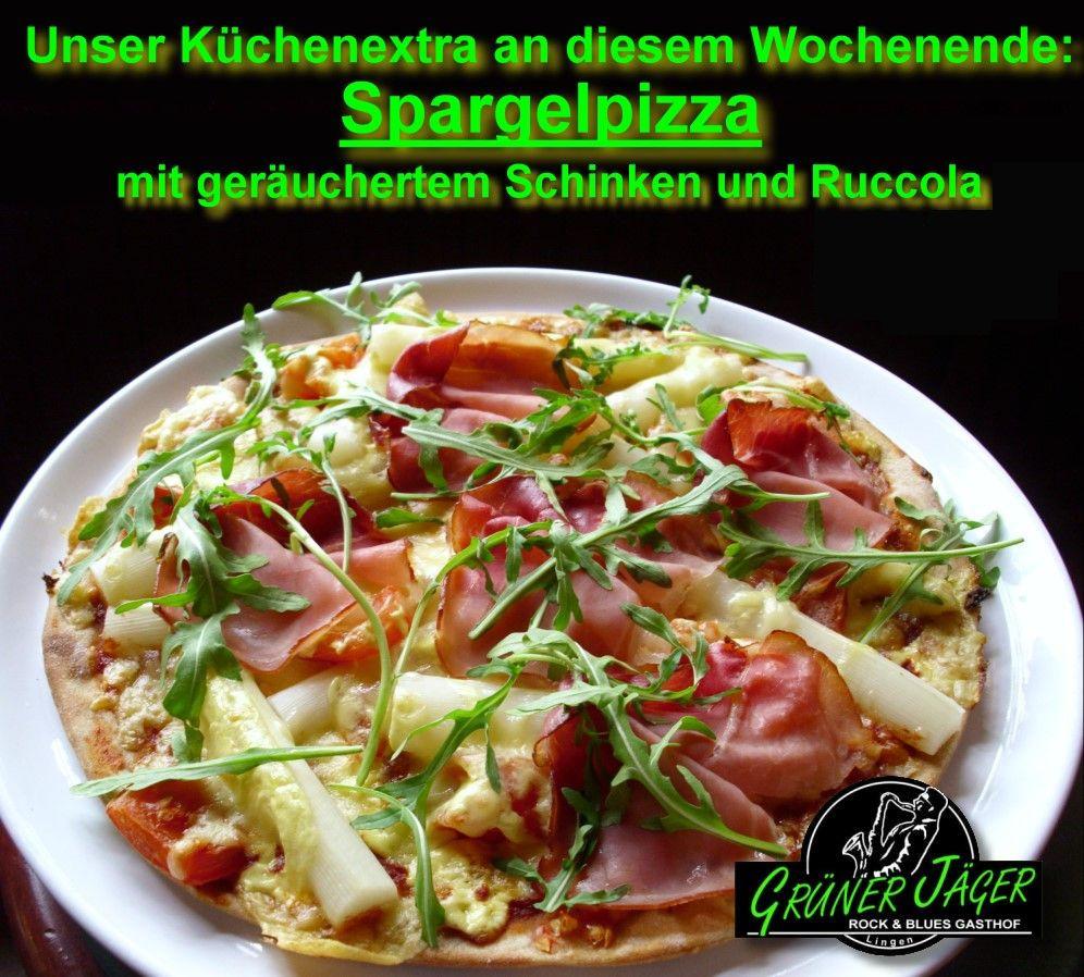 Original Grüner Jäger Spargelpizza