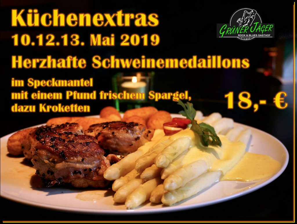 Grüner Jäger Küchenextra Spargel-Medaillons in Speck