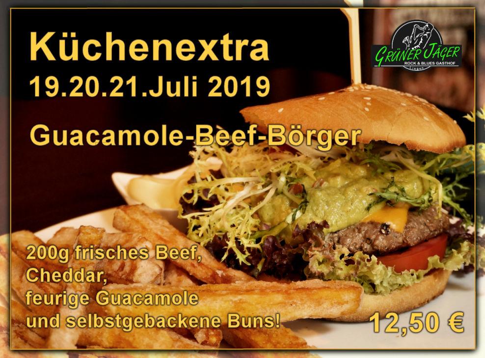 Grüner Jäger Extraessen Guacamole-Beef-Börger
