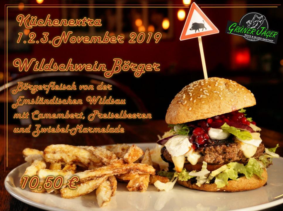 Grüner Jäger Küchenextra Wildschweinbörger 2019-11