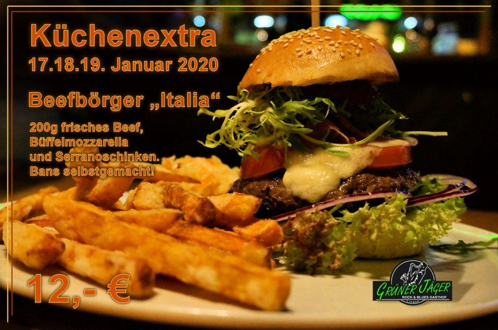 Küchenextra Grüner Jäger Beefbörger Italia 2020