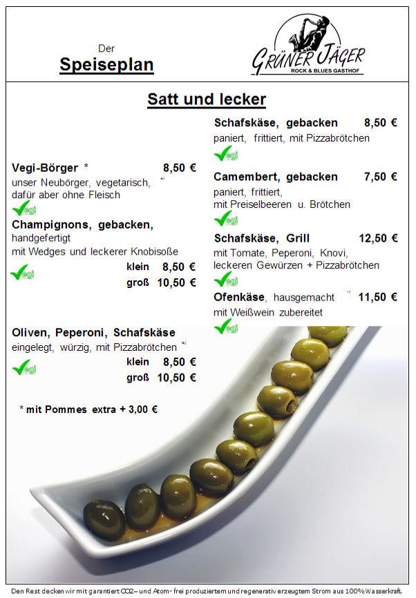 Speisekarte Grüner Jäger 10