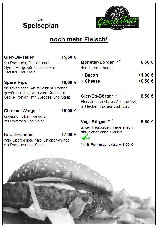 Speisekarte Grüner Jäger 14