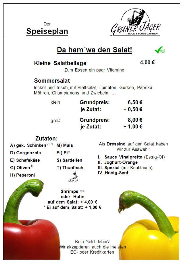 Speisekarte Grüner Jäger 16